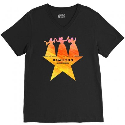 Hamilton An American Musical   Golden V-neck Tee Designed By Jablay