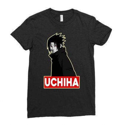 Uchiha Ladies Fitted T-shirt Designed By Jablay