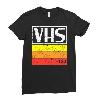 Vintage Vhs Tee 2 Ladies Fitted T-shirt Designed By Jablay
