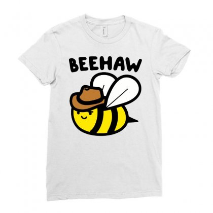 Cowboy Bee Ladies Fitted T-shirt Designed By Jablay