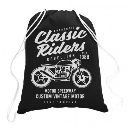 Authentic Classic Rider Drawstring Bags Designed By Jablay
