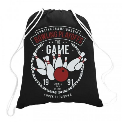 Bowling Playoff Drawstring Bags Designed By Jablay