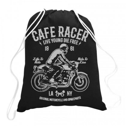 Cafe Race Drawstring Bags Designed By Jablay