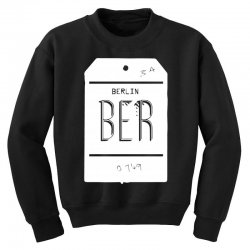 berlin luggage tag Youth Sweatshirt | Artistshot