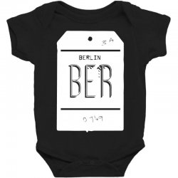 berlin luggage tag Baby Bodysuit | Artistshot