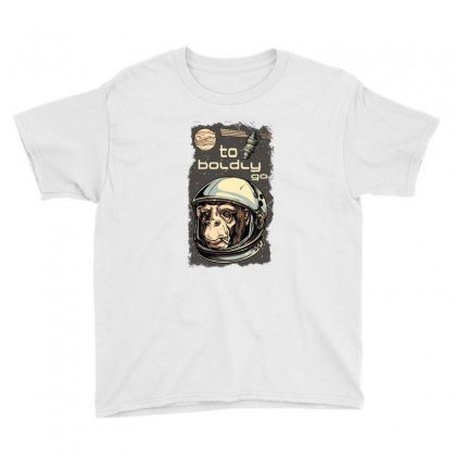 Cosmic Chimp To Boldly Go Youth Tee Designed By Perfect Designers
