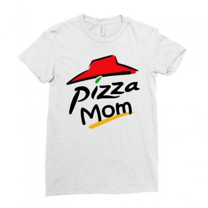 Pizza  Made Mom Ladies Fitted T-shirt Designed By Dongdot Apparel