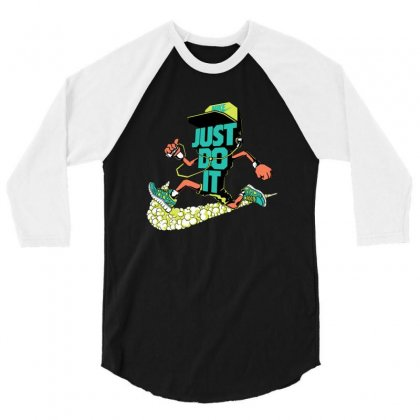 Runner Just Do It 3/4 Sleeve Shirt Designed By Dongdot Apparel