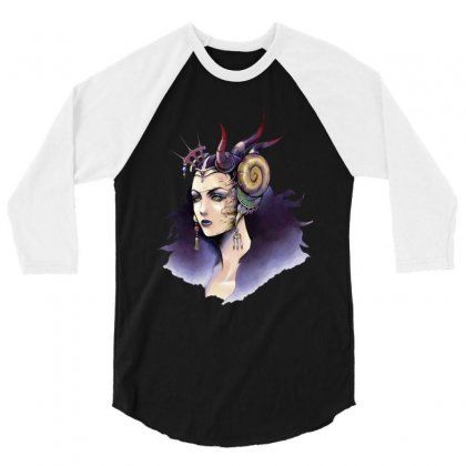 The Dark Queen 3/4 Sleeve Shirt Designed By Dongdot Apparel