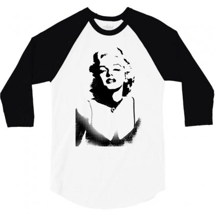 Amazing Stencils Marilyn Monroe 3/4 Sleeve Shirt Designed By Dongdot Apparel