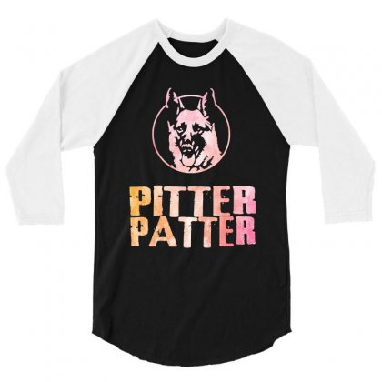 Awesome Pitter Patter Letterkenny 3/4 Sleeve Shirt Designed By Dongdot Apparel
