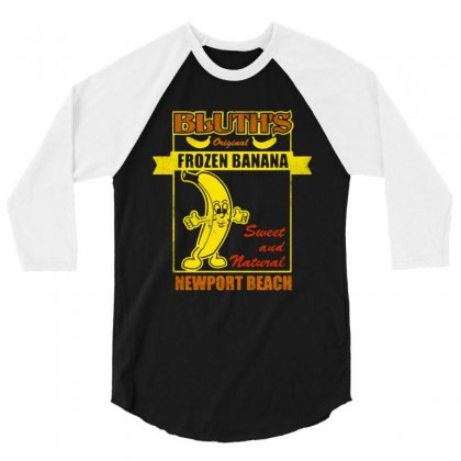 Bluth's Original Frozen Banana 3/4 Sleeve Shirt Designed By Dongdot Apparel