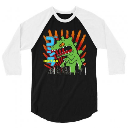 Funny  Reptar Rugrats 3/4 Sleeve Shirt Designed By Dongdot Apparel