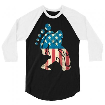 Funny Bigfoot American Vintage 3/4 Sleeve Shirt Designed By Dongdot Apparel