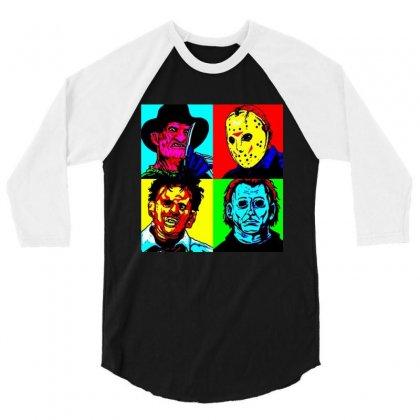Horror Squad 3/4 Sleeve Shirt Designed By Dongdot Apparel