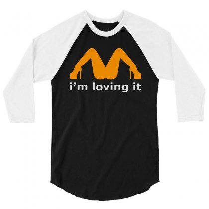 I'm Loving It 3/4 Sleeve Shirt Designed By Dongdot Apparel