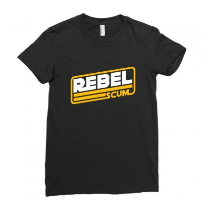 Rebel Scum Ladies Fitted T-shirt Designed By Sr88