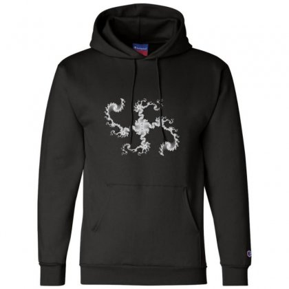 Fractal Star Champion Hoodie Designed By Zykkwolf