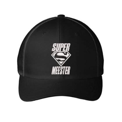 Super Meester Embroidered Mesh Cap Designed By Madhatter