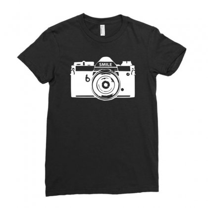 Camera Photography Ladies Fitted T-shirt Designed By Erni