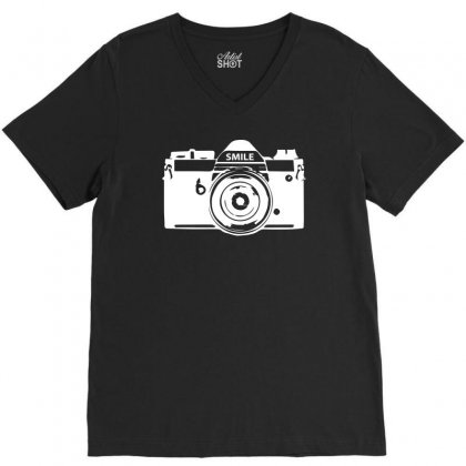 Camera Photography V-neck Tee Designed By Erni