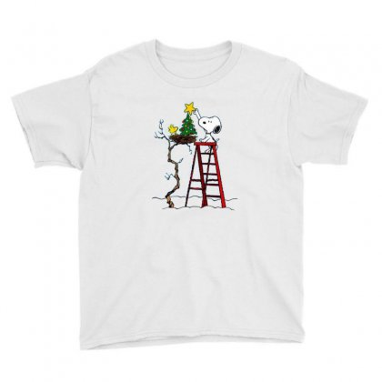 Snoopy Christmas Youth Tee Designed By Roxanne