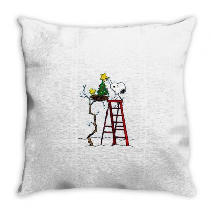 Snoopy Christmas Throw Pillow Designed By Roxanne