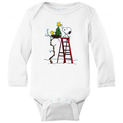 Snoopy Christmas Long Sleeve Baby Bodysuit Designed By Roxanne