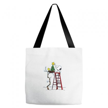 Snoopy Christmas Tote Bags Designed By Roxanne