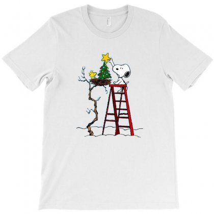 Snoopy Christmas T-shirt Designed By Roxanne