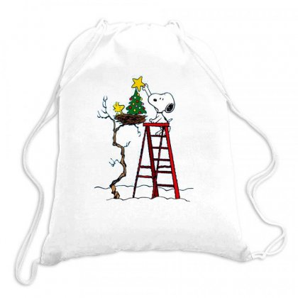 Snoopy Christmas Drawstring Bags Designed By Roxanne