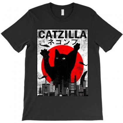 Catzilla Funny Vintage  For Cat Lover T-shirt Designed By Colorfull Art