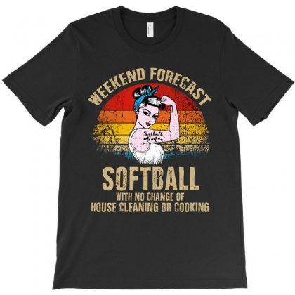 Weekend Forecast Softball T-shirt Designed By Colorfull Art
