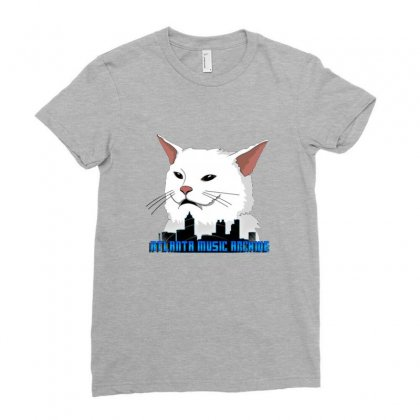 Atlanta Music Cat Ladies Fitted T-shirt Designed By Sr88