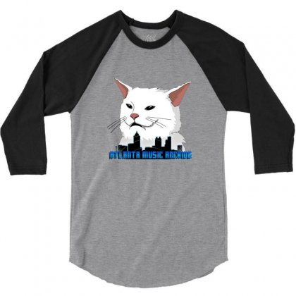 Atlanta Music Cat 3/4 Sleeve Shirt Designed By Sr88