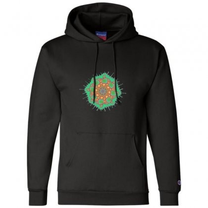 Spiral Fractal Champion Hoodie Designed By Zykkwolf