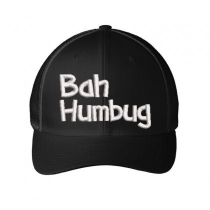 Bah Humbag Embroidered Mesh Cap Designed By Madhatter