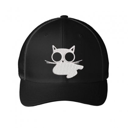 Kitty Embroidered Mesh Cap Designed By Madhatter
