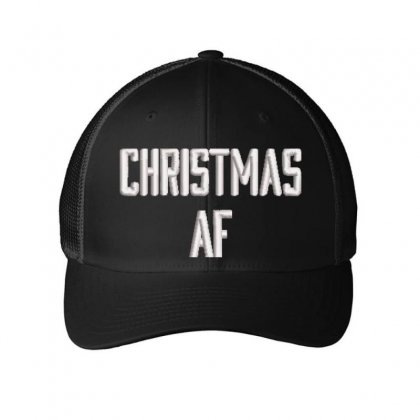 Christmas Af Embroidered Mesh Cap Designed By Madhatter