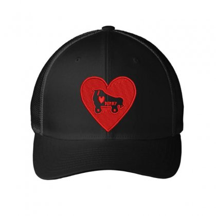 Heart Embroidered Mesh Cap Designed By Madhatter