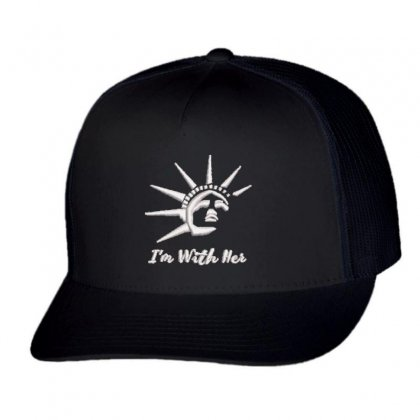 I'm With Her Trucker Cap Designed By Madhatter
