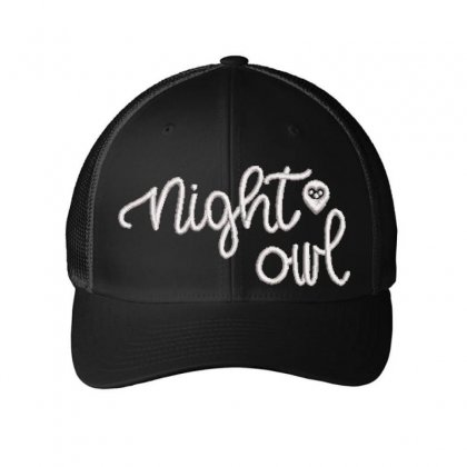 Night Owl Embroidered Mesh Cap Designed By Madhatter
