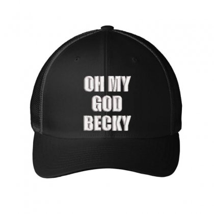 Oh My God Embroidered Mesh Cap Designed By Madhatter