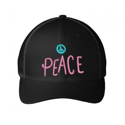Peace Embroidered Mesh Cap Designed By Madhatter