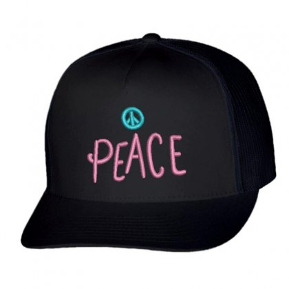 Peace Trucker Cap Designed By Madhatter