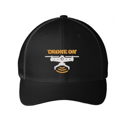 Drone On Embroidered Mesh Cap Designed By Madhatter