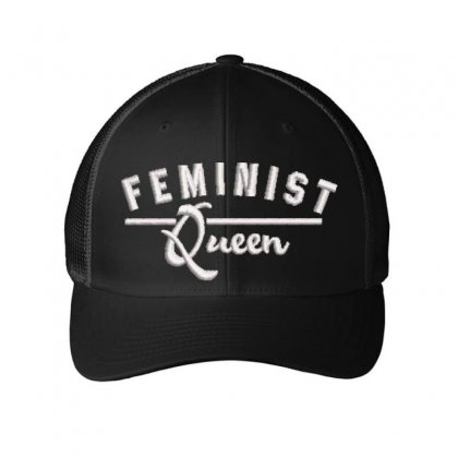 Feminist Queen Embroidered Mesh Cap Designed By Madhatter