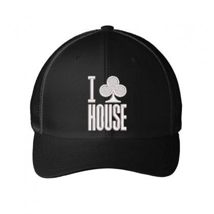 I Leaf House Embroidered Mesh Cap Designed By Madhatter