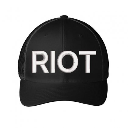Riot Embroidered Mesh Cap Designed By Madhatter