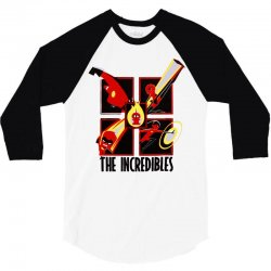 the incredibles retro grid 3/4 Sleeve Shirt | Artistshot